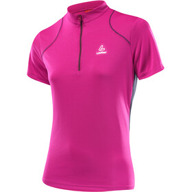Löffler Pura Bike Shirt Half-Zip Damen berry